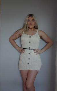 the dress of the summer cream knit