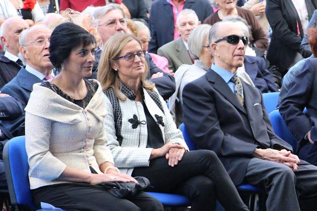 La alcaldesa, Amaia del Campo, en un acto con directivos de la Fundación Miranda