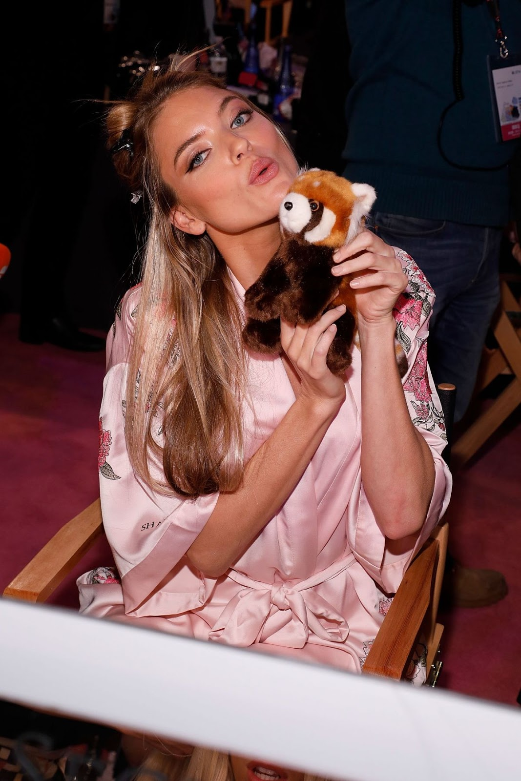 Martha Hunt on the Backstage at 2017 Victoria's Secret Fashion Show in Shanghai