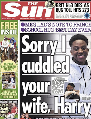 Prince Harry apologized to for a hug stolen? from Meghan