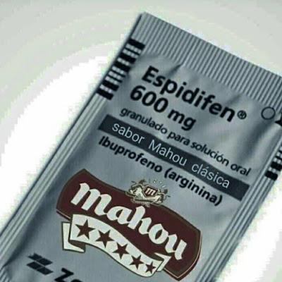 Espidifen, 600 mg, sabor Mahou clásica