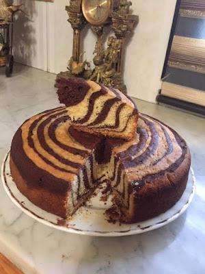 وقت القوتي مع الكيكة الرخامية