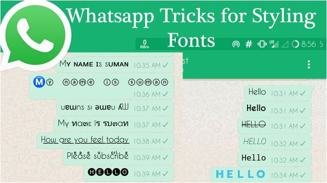 كيفية تغيير خط كتابة رسائل الواتساب وجعله ذات مظهر جذاب