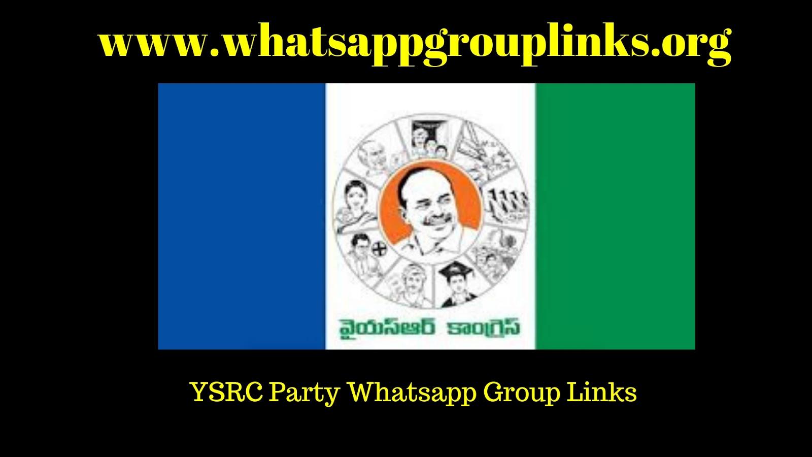 Join YSR Congress Party Whatsapp Group Links List - Whatsapp Group Links