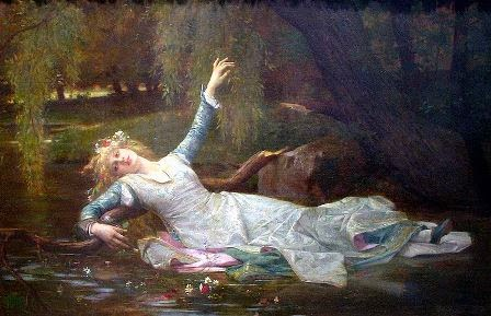 Ophelia's flowers and garland