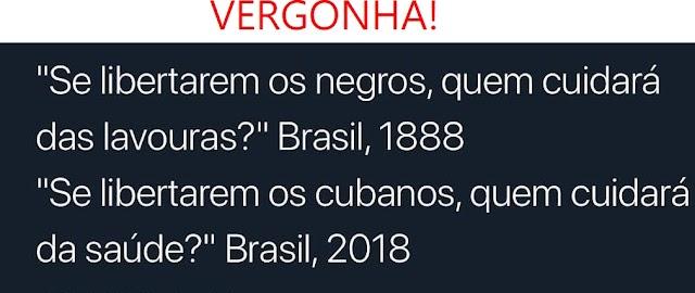 Escravidão dos cubanos com apoio do Brasil? Vergonha pra nós que aceitamos isso!