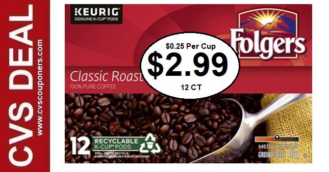 Cheap Folgers K-Cups CVS Coupon Deals
