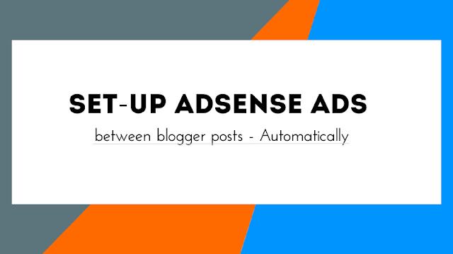 Add Adsesne between blogger posts auto