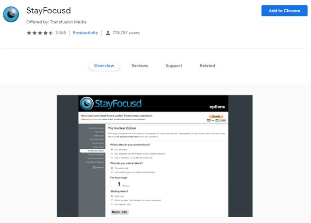 StayFocusd Chrome Extension