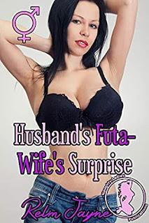 Beautiful futa wife in denim shorts and black bra