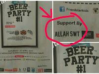 Banten Heboh Pamflet Pesta Bir Bersponsor Tulisan Allah SWT