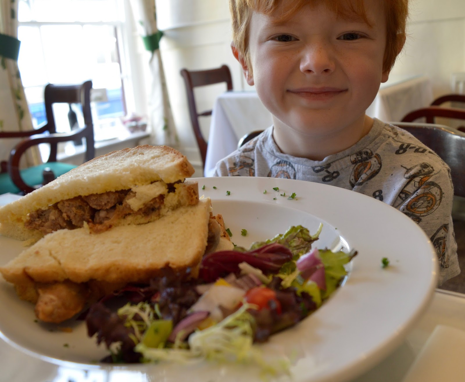 A weekend break in Richmond, North Yorkshire | What to do with the kids - Duncan's Tearoom breakfast menu  sausage sandwich