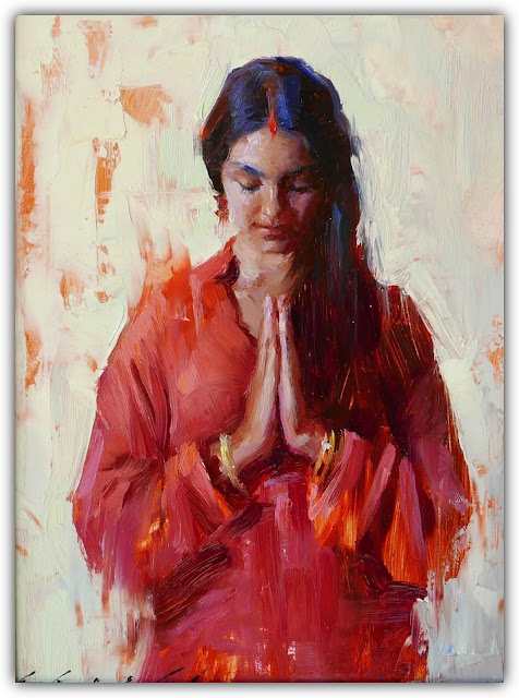 Woman Gesturing Namaste