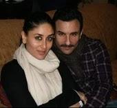 Saif Ali Khan with her wife kareena kapoor