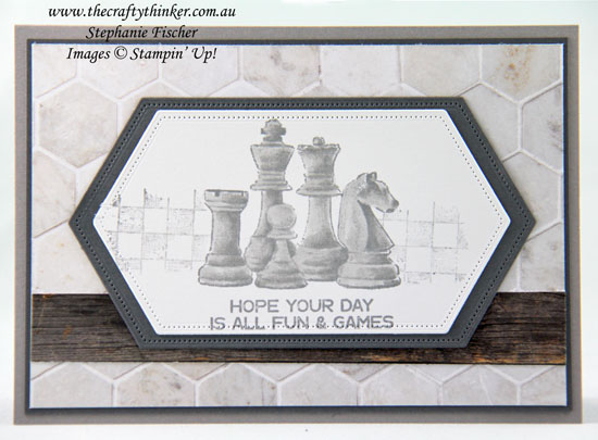#thecraftythinker #stampinup #cardmaking #gameon #2020annualcatalogue , Game On, In Good Taste DSP, Masculine card, Stampin' Up Demonstrator, Stephanie Fischer, Sydney NSW