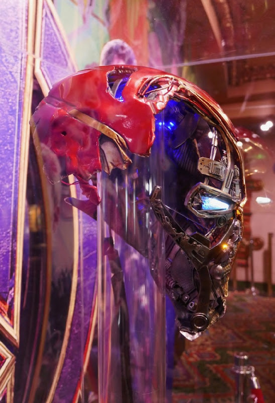 Damaged Iron Man helmet Avengers Endgame