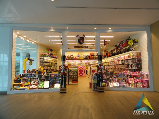 projeto arquitetura fachada loja brinquedos