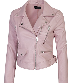 Pink Faux Leather Jackets for Spring