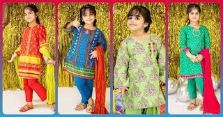 Bonanza Kids Wear Eid Lawn Collection 2020