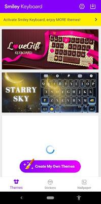 صورة من تطبيق FunType Smiley Keyboard