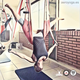 """""""Se trata de la 1a certificación de trabajo en columpio inspirada en el yoga y el pilates perfectamente estructurada y fundamentada. Desarrollada desde la pasada década, es así mismo la 1a formación en Pilates Aéreo supervisada por médicos del deporte, expertos en pilates, yoga y fisioterapeutas. Incluye 3 variantes originales, bien definidas, diferentes y complementarias ( AeroYoga®, AeroPilates® y AerialFitness®) imprescindibles para una verdadera comprensión del enorme potencial del trabajo en suspensión"""". Rafael Martinez."""