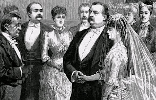 An etching of the wedding of Grover Cleveland and Frances Folsom on June 2, 1886.