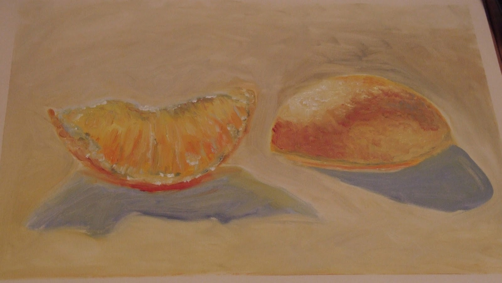 orange fruit painting