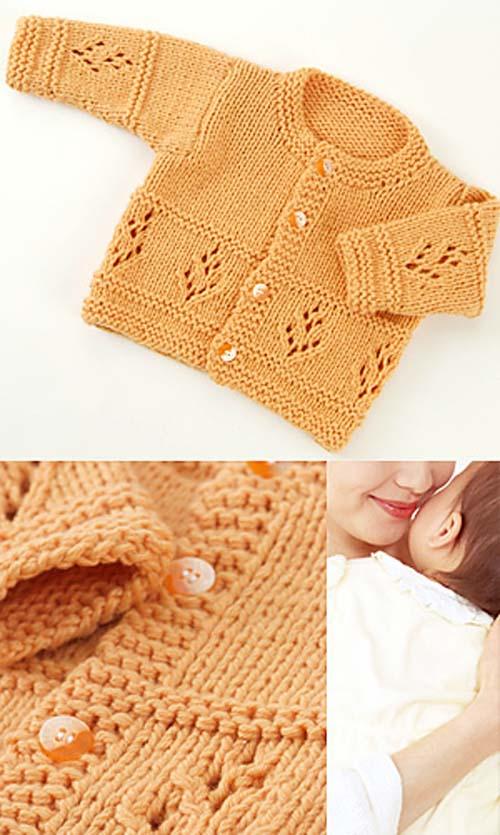 Cashmere Baby Cardigan - Free Knitting Pattern