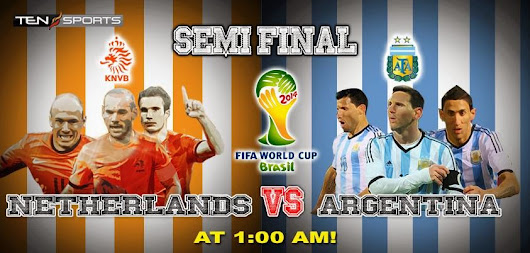 Netherlands Vs Argentina - Semifinal - FIFA World Cup 2014