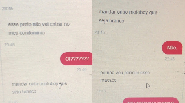 Racismo: Motoboy é chamado de macaco ao tentar entregar um pedido  - Adamantina Notìcias