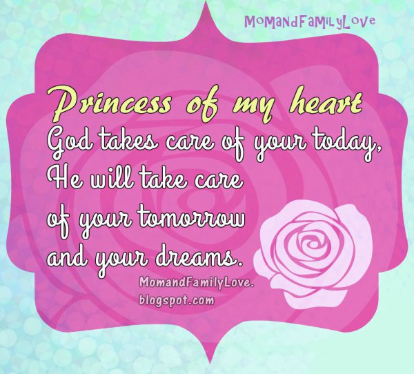 I Live For My Daughter Quotes: Mom And Family Love: Nice Wishes For The Princess Of My Heart