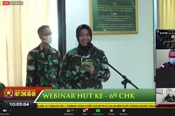 Dalam Rangka HUT Korps  Hukum TNI-AD Ke-69, Staf Hukum Divif 2 Kostrad Ikuti Webinar