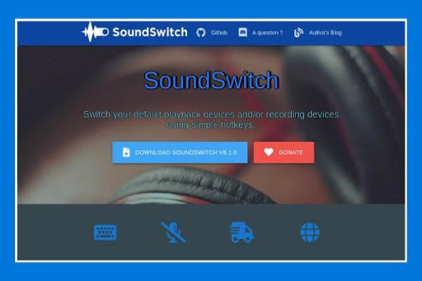 أداة للتبديل بين أجهزة إخراج الصوت في Windows باستخدام اختصار لوحة المفاتيح فقط