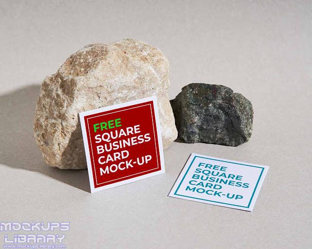 square business card mockup 5