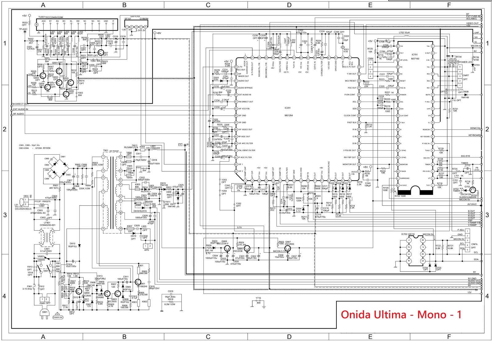 Ultima Wiring Diagram Complete Explained Diagrams Free Download Oset Onida Chassis Crt Tv