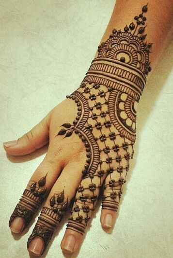 Back Hand Jewellery Mehndi Designs For Hands