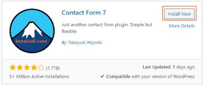Instal Contact Form 7