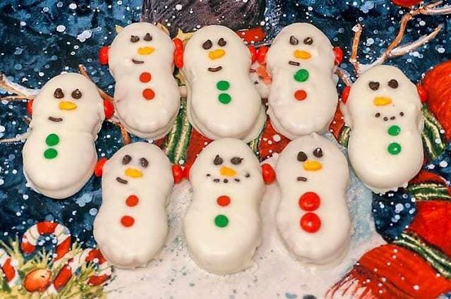 Snowman Nutter Butter Cookies