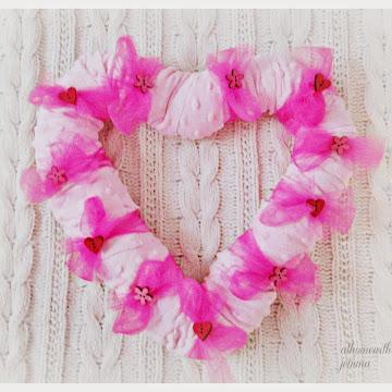 Minky Heart Wreath