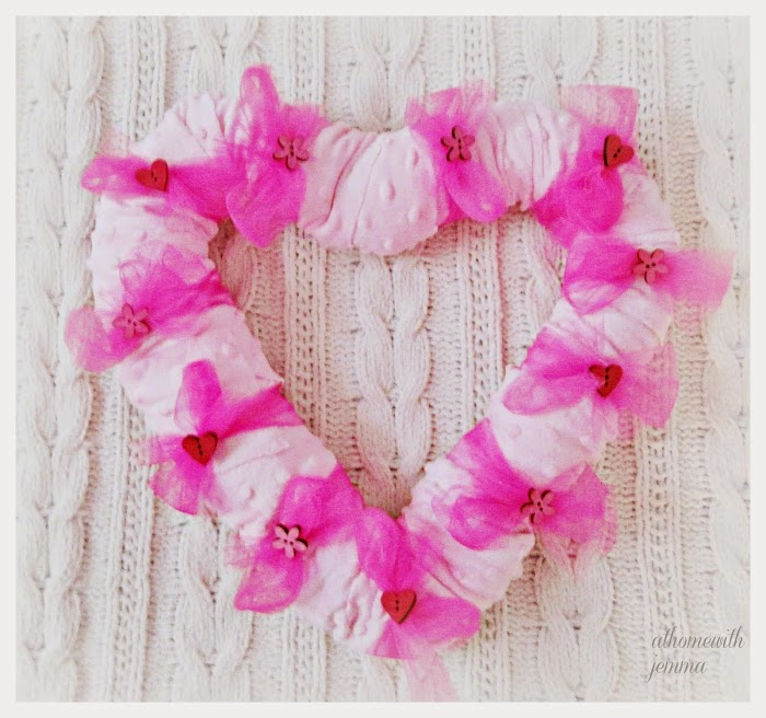 Minky Heart Wreath