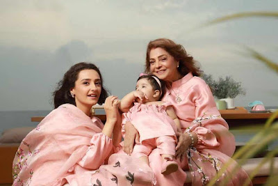 Momal Sheikh with her Mother and Daughter