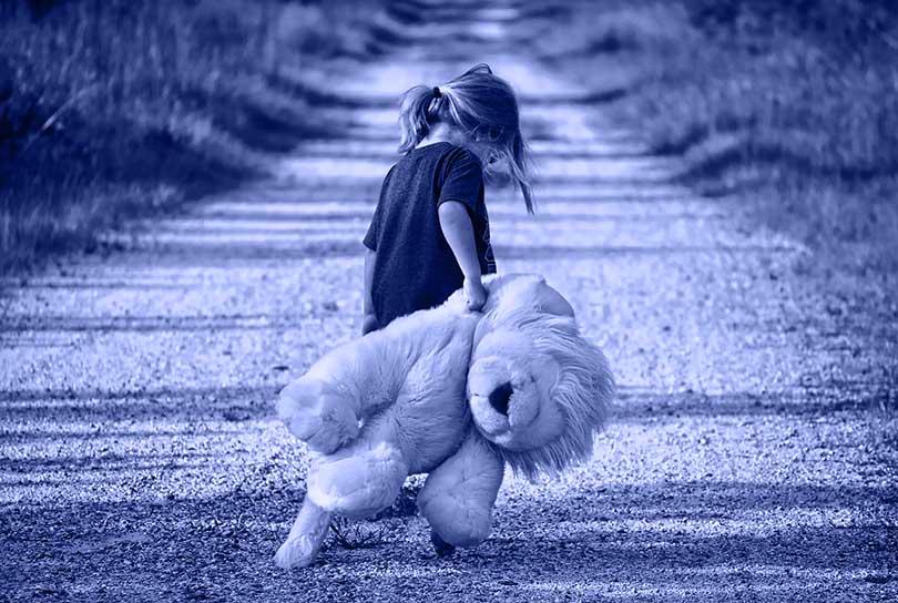 ohana, child and bear