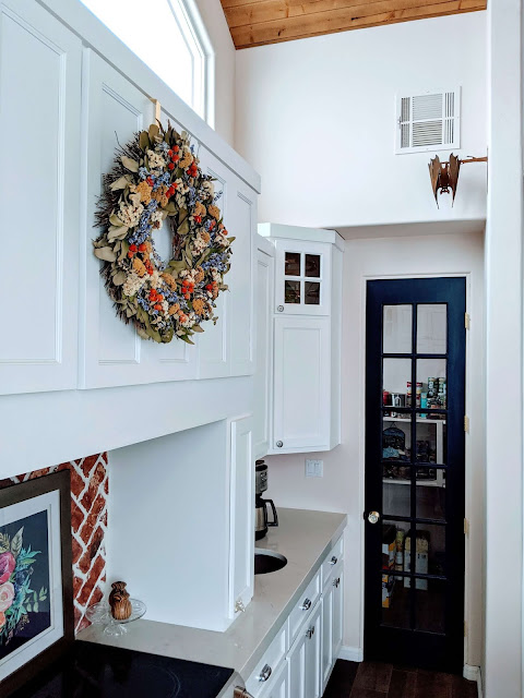 Blue pantry door