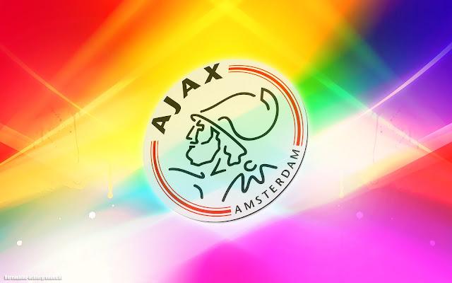 Leuke Ajax achtergrond met logo, lichten en veel kleur