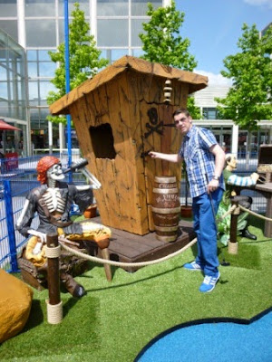 Pop-up Adventure Golf course at the Centre:MK in Milton Keynes