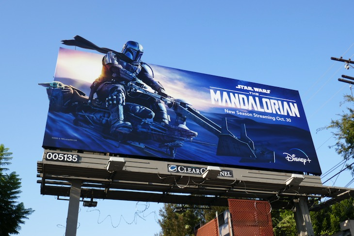 Mandalorian season 2 cut-out billboard