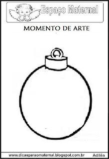 Desenho bola de natal colorir