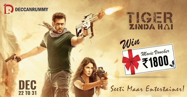 Play Rummy & Watch Salman Khan's Tiger Zinda Hai Free!