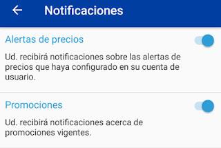 Como activar y desactivar las alertas de vuelos baratos en Despegar app