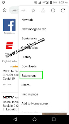 how to install chrome extension on android device